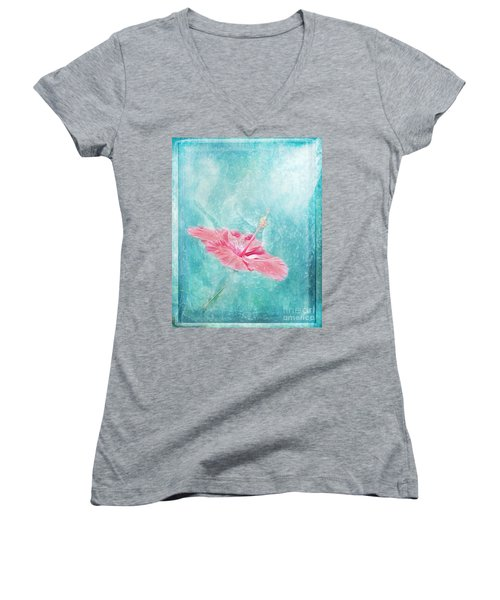 Flower Dancer Women's V-Neck T-Shirt (Junior Cut) by Erika Weber