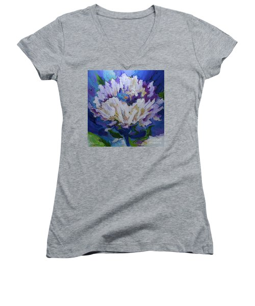 Flower For A Friend Women's V-Neck (Athletic Fit)