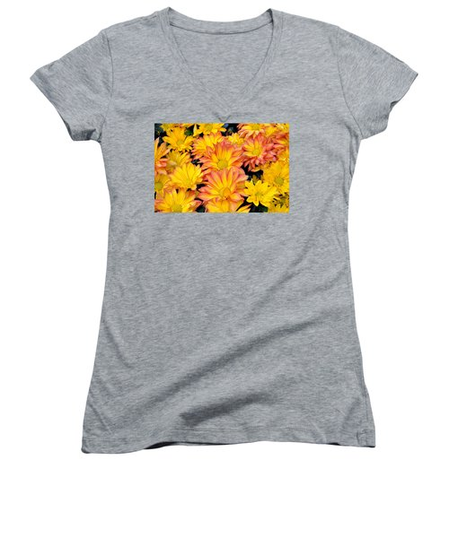 Flower  Women's V-Neck