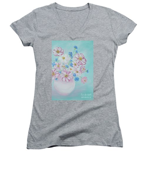 Flowers In A Vase. Inspirations Collection Women's V-Neck