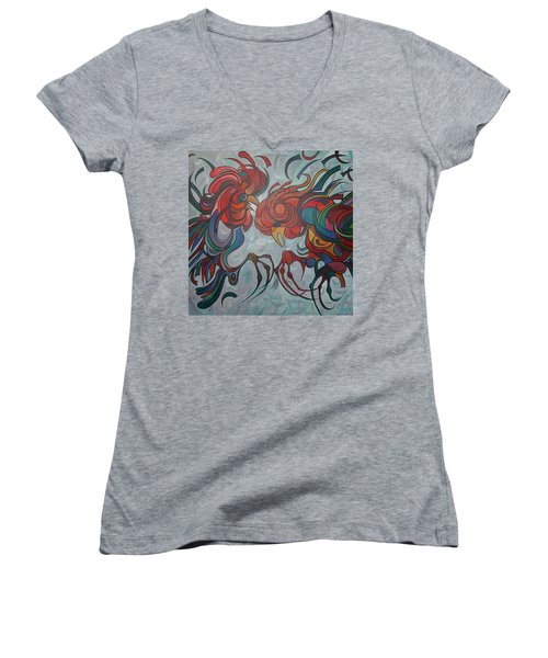 Flying Feathers Women's V-Neck T-Shirt