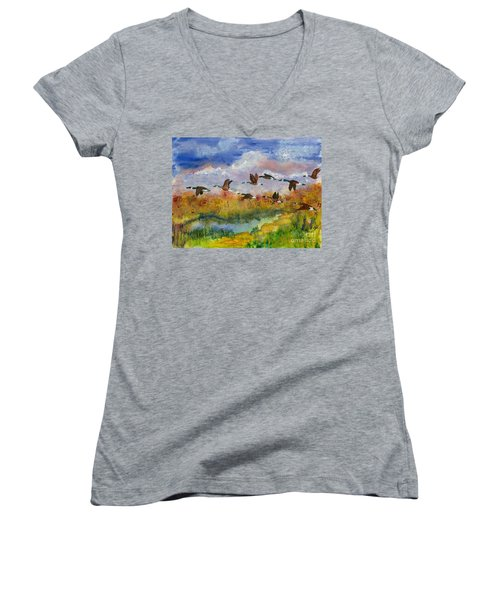 Flying South Women's V-Neck (Athletic Fit)