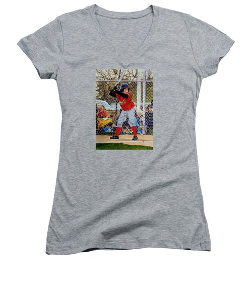 Focus Women's V-Neck T-Shirt (Junior Cut) by Raymond Perez