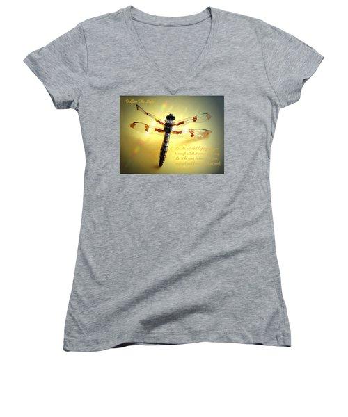 Follow The Light Women's V-Neck T-Shirt