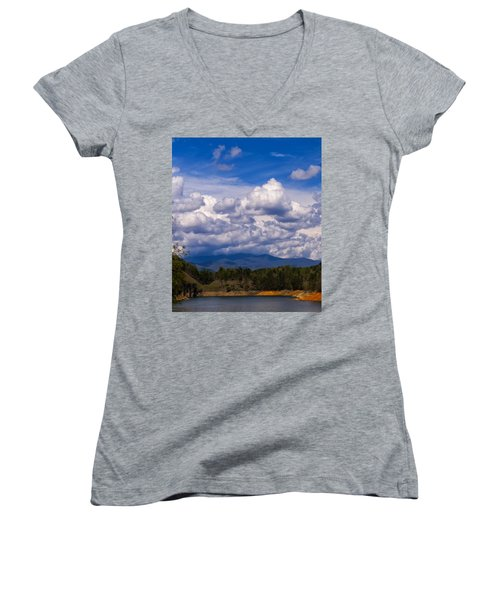 Fontana Lake Storm 2 Women's V-Neck T-Shirt