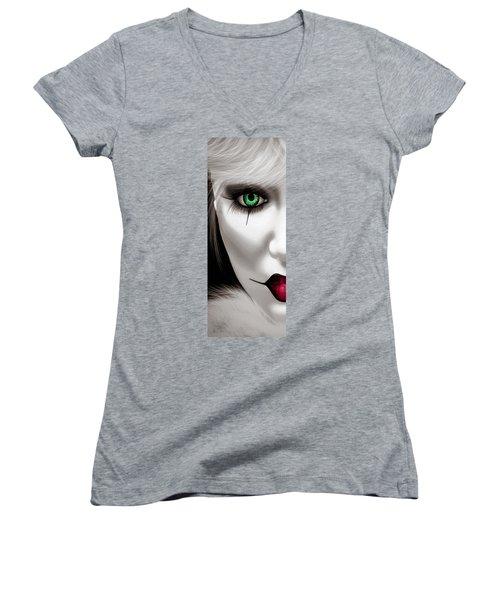 Fool Women's V-Neck T-Shirt (Junior Cut) by Bob Orsillo