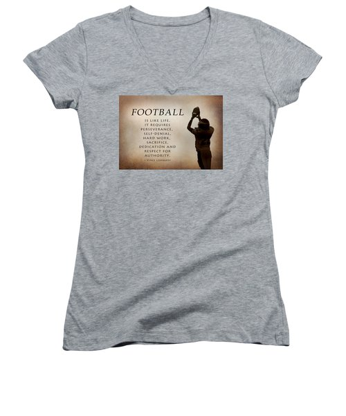 Football Women's V-Neck (Athletic Fit)