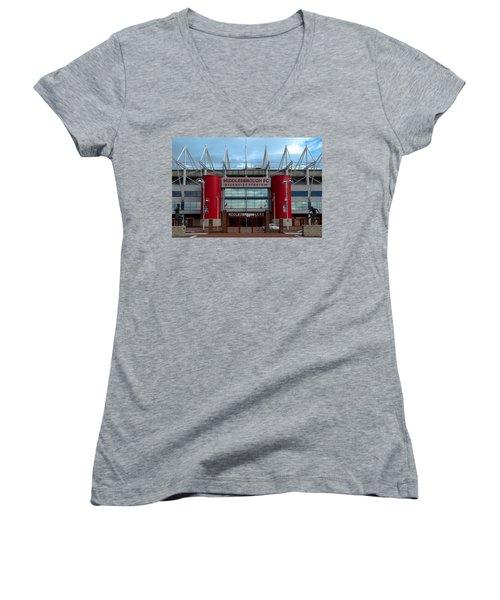 Football Stadium - Middlesbrough Women's V-Neck