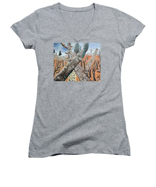 For The Trees Women's V-Neck (Athletic Fit)