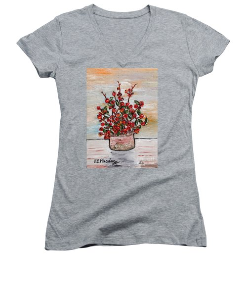 For You Women's V-Neck T-Shirt (Junior Cut) by Loredana Messina