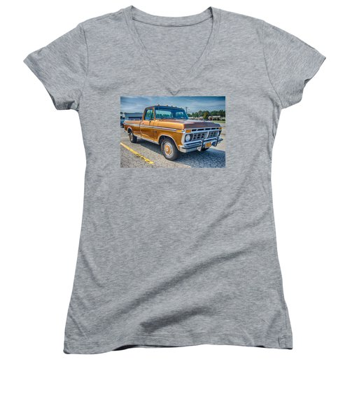 Ford F-100 7p00531h Women's V-Neck