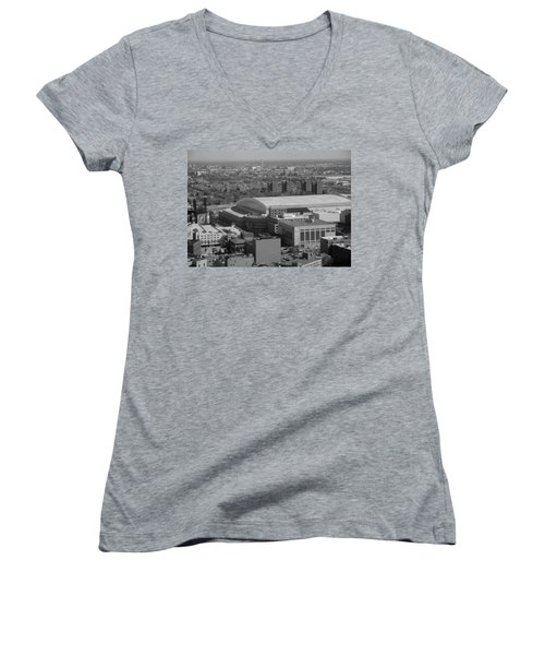 Ford Field Bw Women's V-Neck (Athletic Fit)