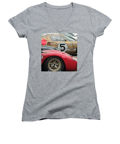 Ford Gt 40's Women's V-Neck (Athletic Fit)