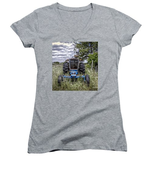 Ford Women's V-Neck T-Shirt (Junior Cut) by Savannah Gibbs