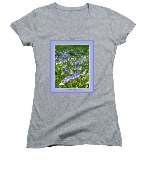 Forget Me Not Women's V-Neck T-Shirt