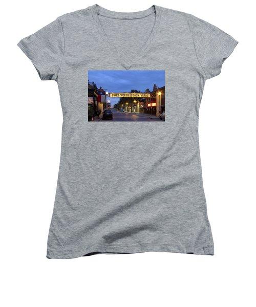 Fort Worth Stockyards Women's V-Neck T-Shirt