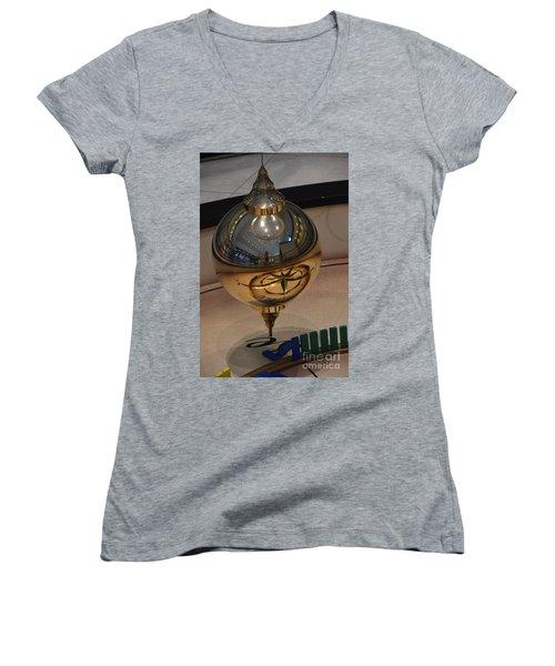 Women's V-Neck T-Shirt (Junior Cut) featuring the photograph Foucalt's Pendulum by Robert Meanor