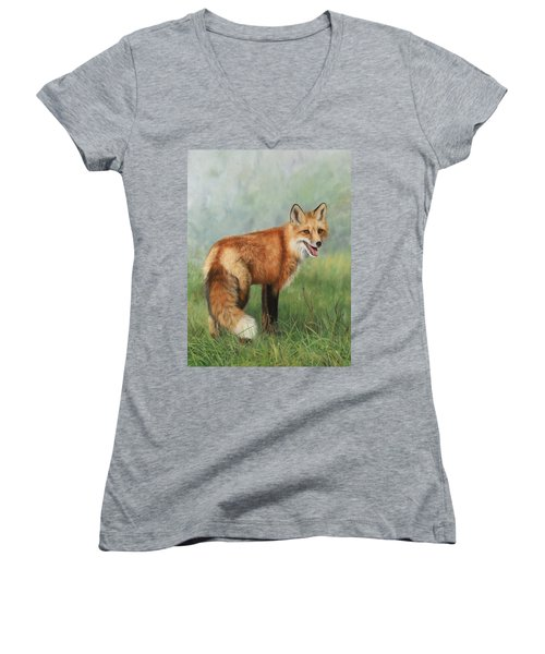 Fox  Women's V-Neck T-Shirt