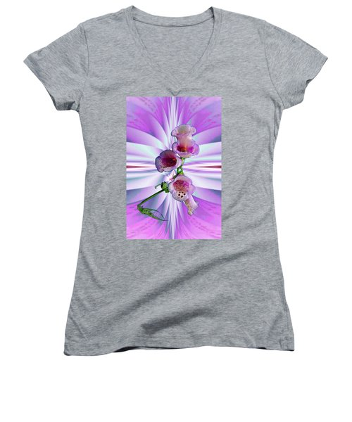 Foxglove Women's V-Neck T-Shirt