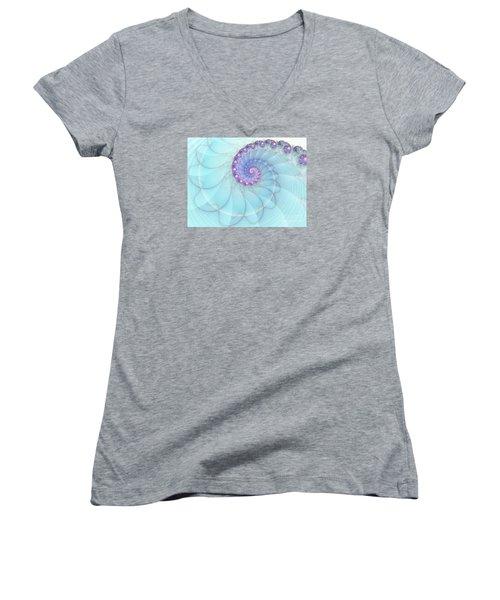 Fractal 17 Women's V-Neck T-Shirt