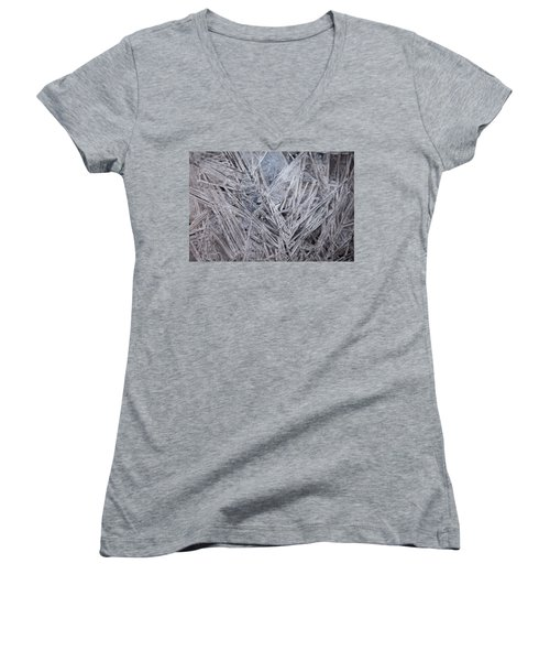 Frozen Fractal Women's V-Neck (Athletic Fit)