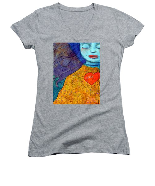 Free Your Mind And Grace Will Follow Women's V-Neck (Athletic Fit)