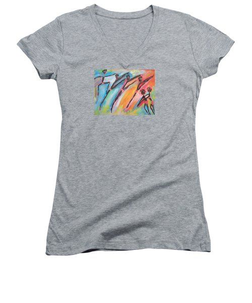 Freedom Joyful Ballet Women's V-Neck T-Shirt