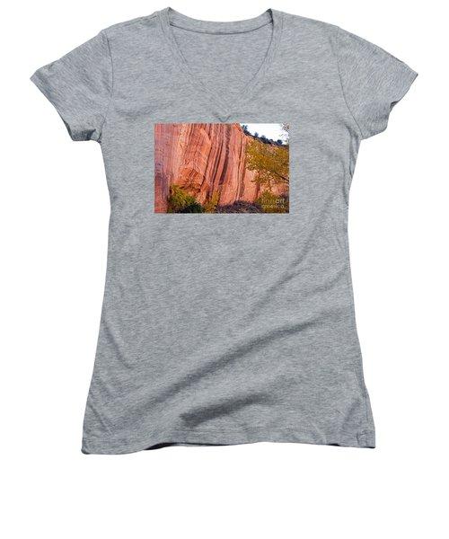 Fremont River Cliffs Capitol Reef National Park Women's V-Neck