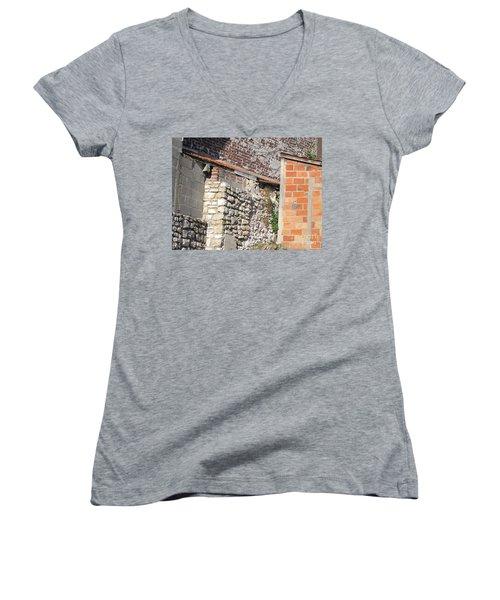French Farm Wall Women's V-Neck T-Shirt