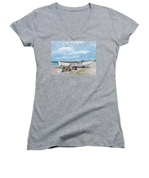 Friends By The Sea  Women's V-Neck (Athletic Fit)