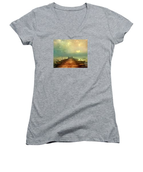 From The Moon To The Mist Women's V-Neck