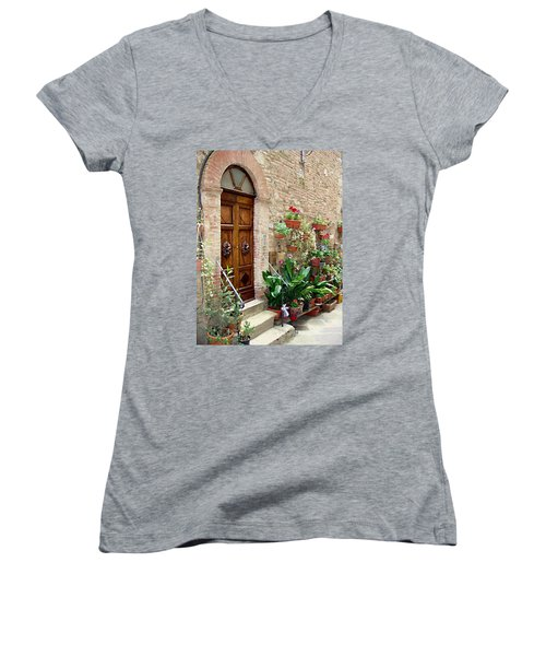 Front Door Women's V-Neck T-Shirt (Junior Cut)