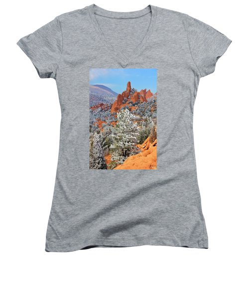 Frosted Wonderland 1 Women's V-Neck T-Shirt