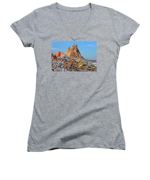 Frosted Wonderland 4 Women's V-Neck T-Shirt