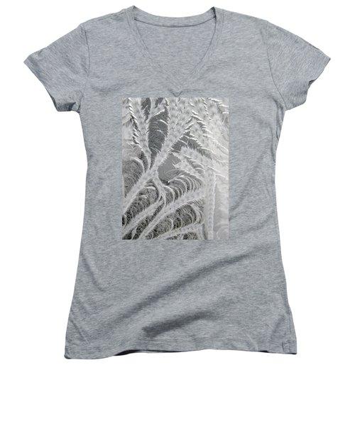 Frosty Window Art Women's V-Neck T-Shirt
