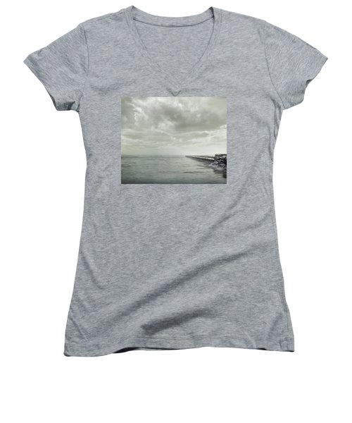 Frozen Jetty Women's V-Neck (Athletic Fit)