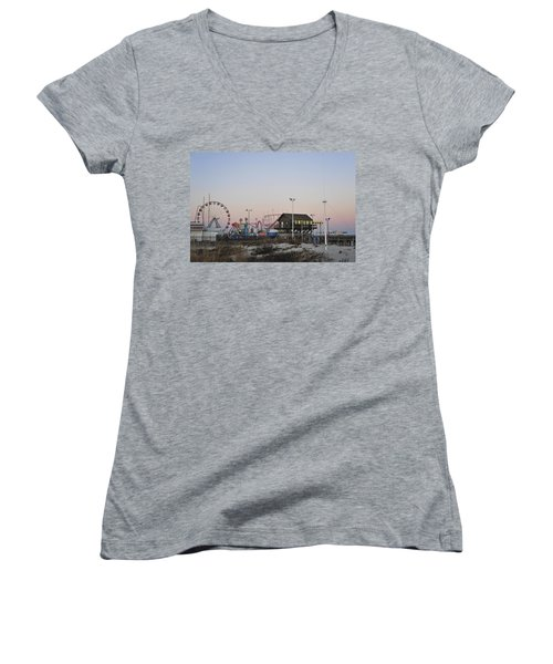 Fun At The Shore Seaside Park New Jersey Women's V-Neck (Athletic Fit)