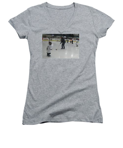 Future Hockey Players Women's V-Neck (Athletic Fit)