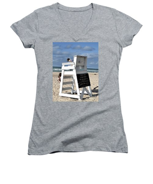Future Life Guards Women's V-Neck (Athletic Fit)