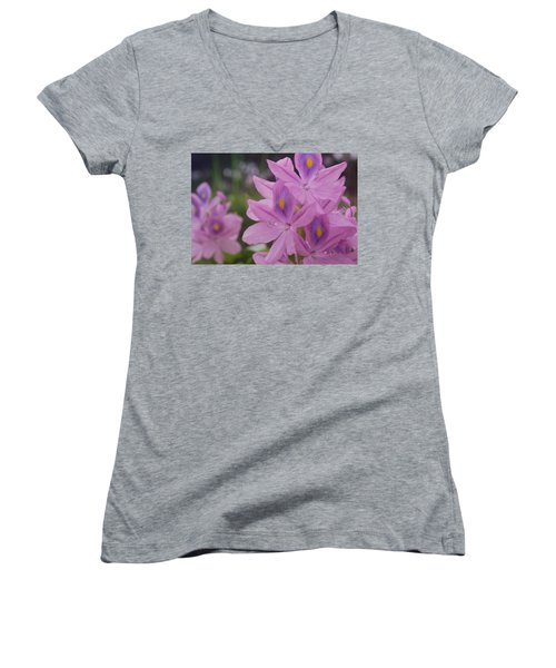 Women's V-Neck T-Shirt (Junior Cut) featuring the photograph Garden Is Watching by Miguel Winterpacht
