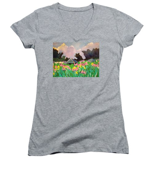 Garden Party 2 Women's V-Neck (Athletic Fit)