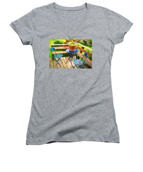 Garden Party Women's V-Neck