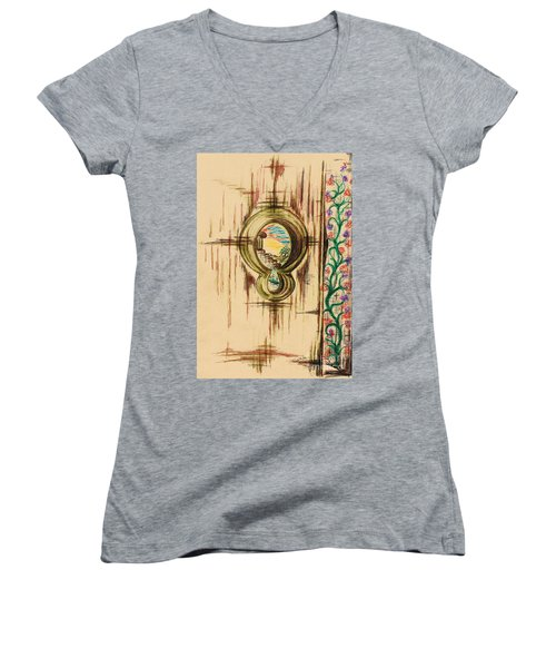 Garden Through The Key Hole Women's V-Neck T-Shirt