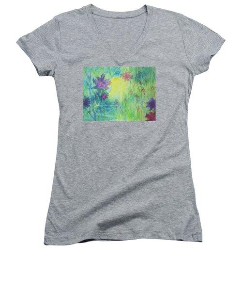 Garden Vortex Women's V-Neck T-Shirt (Junior Cut) by Ellen Levinson
