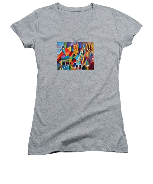 Gateway Women's V-Neck T-Shirt (Junior Cut) by Jason Williamson