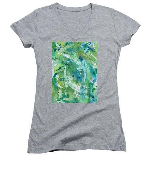 Geckos At Play Women's V-Neck