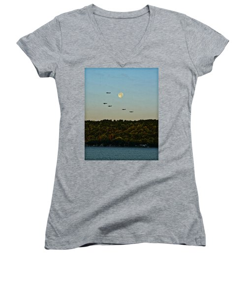 Geneseo Air Show Women's V-Neck T-Shirt