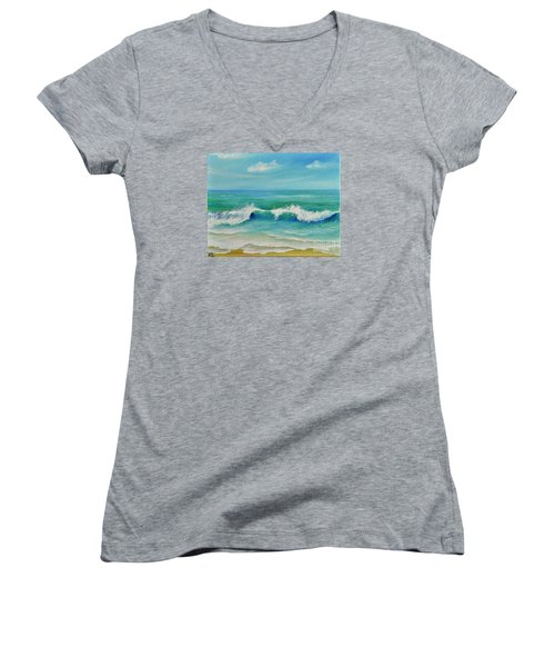 Gentle Breeze Women's V-Neck T-Shirt (Junior Cut) by Teresa Wegrzyn