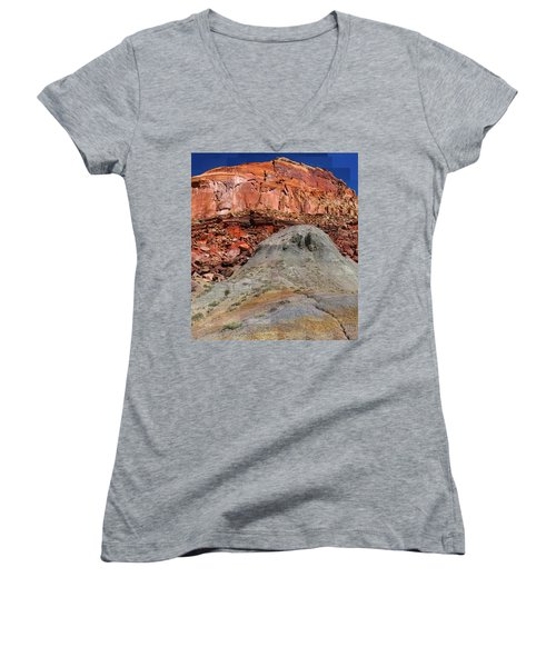 Geology Triptych - One Women's V-Neck (Athletic Fit)
