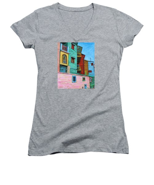 Geometric Colours II Women's V-Neck (Athletic Fit)